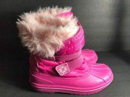 Circo Pink Faux Fur Lined Snow Boots Size 5T - £6.94 GBP
