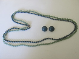 "Vintage Sarah Coventry ""Fashion Frost"" Necklace & Clip On Earrings Set - 1976  - $10.99"