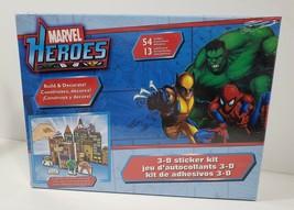 Marvel Heroes 3-D sticker kit ... Brand new - $11.87