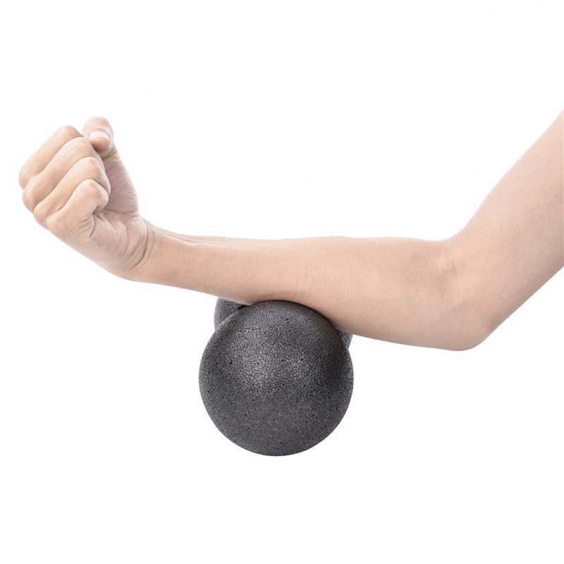 Fitness Peanut Massage Ball Yoga Therapy Stress Pain Relief Exercise Muscle Gym