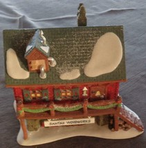 Heritage Village Collection North Pole Series Santa's Woodworks Building... - $59.39