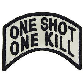 Primary image for SNIPER ARMY MARINE CORPS ONE SHOT ONE KILL EMBROIDERED MILITARY PATCH
