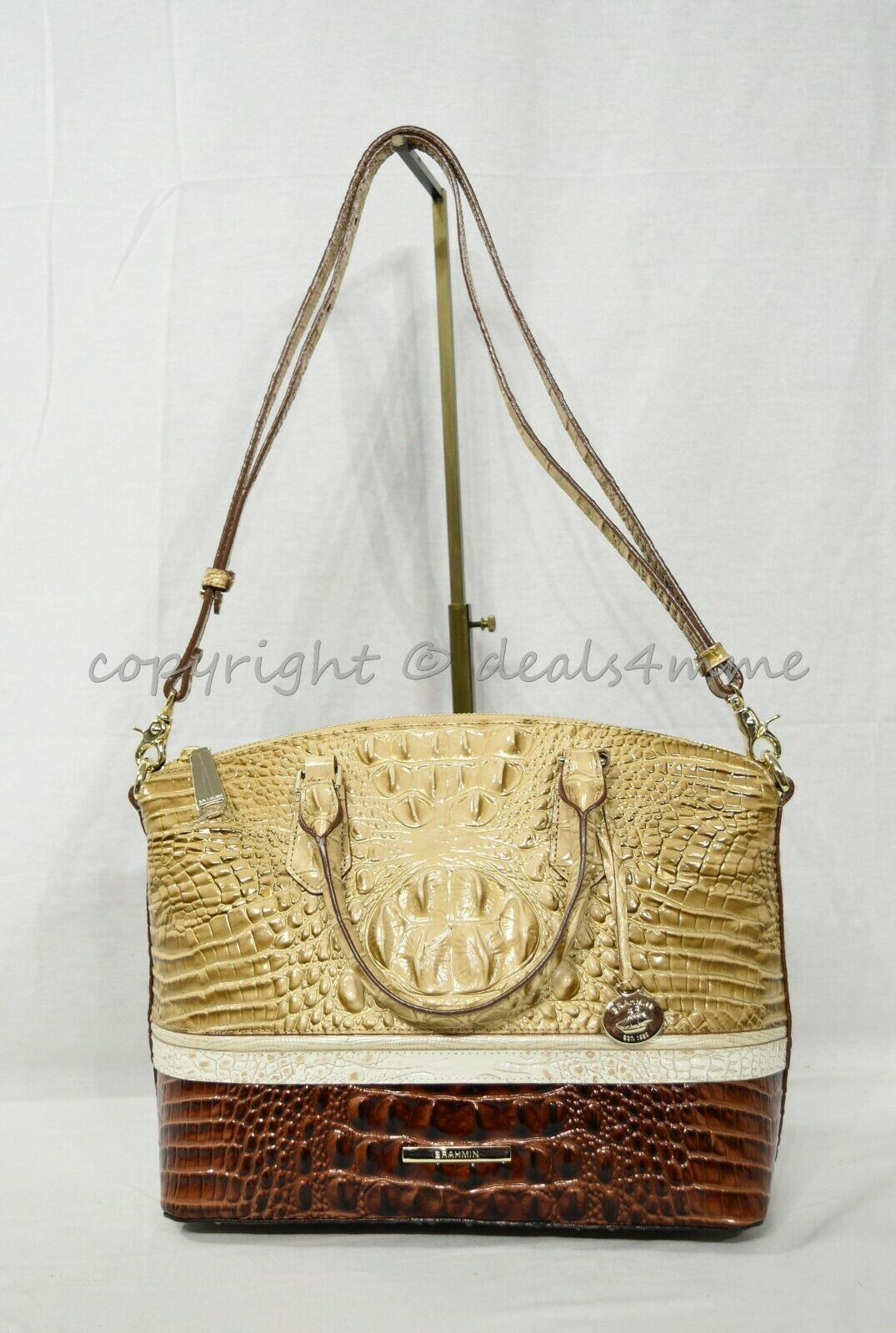 NWT Brahmin Duxbury Leather Satchel/Shoulder Bag in Honeycomb Leroy image 2