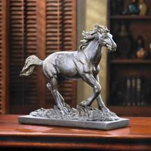 Wild Stallion Running Free Statue - $29.99