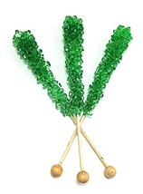 Rock Candy Stick Green Watermelon Candy 24 Count - $24.59