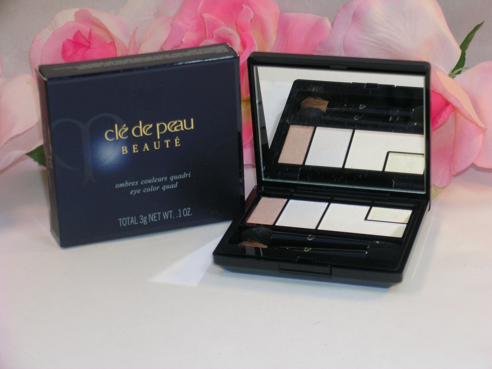 Primary image for New Shiseido Cle De Peau Beaute Eye Shadow Color Quad #10 Tan Shimmer Highlighs