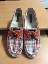 Sperry Top-Sider Women's Sz 8.5 Plaid Boat Shoes - $11.29