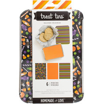 Homemade With Love Food Craft Treat Tins Halloween Large - $15.00