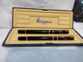 pen and waterman pen .France inscription Esso with case - $98.01