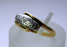Stunning 18ct (750) Solid Gold Platinum Diamond Trilogy Engagement Ring Size I.5 - $175.00