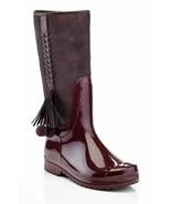 Henry Ferrera K-Pom Pom Girls Burgundy Knee High Rain Boots - $44.00