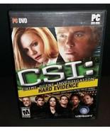 CSI: Crime Scene Investigation -- Hard Evidence (PC, 2007) - European Ve... - $7.91