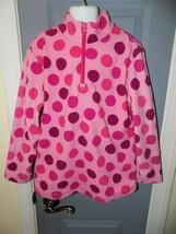 Hanna Andersson Pink Polka Dot Fleece Pullover 1/4 Zip Sweatshirt Size 8... - $28.00