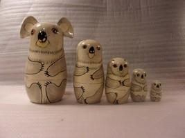 "Vintage Nesting Dolls -  KOALA Bears - 5 Piece - 6"" Tall     lot 490 - $24.75"