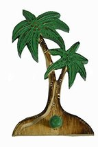 Beautiful Unique Wooden Palm Tree with Hook Hanger Towel Key Holder Trop... - $24.69