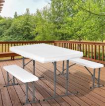Outdoor Picnic Table Bench Folding Tables Patio Garden Benches Home Back... - $119.01