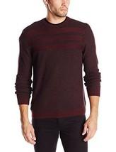 NWT $80 Calvin Klein Men's Moss and Garter Stitch Crew Neck Sweater Pino... - $33.24