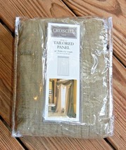 """Croscill Crushed Chenille Bronze Tailored Panel 44"""" Wide x 84"""" Length St... - $40.37"""