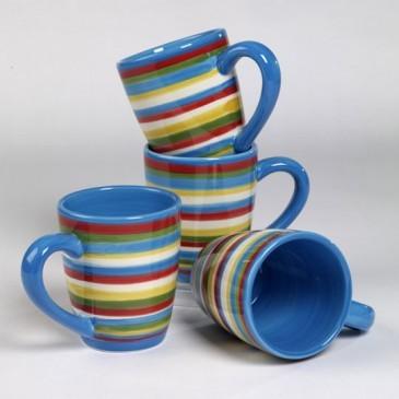 Annas linen sedona stripe blue mugs