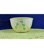 Vintage 1980's Irish Belleek Porcelain Shamrock Basket Weave Coupe Cerea... - $49.99