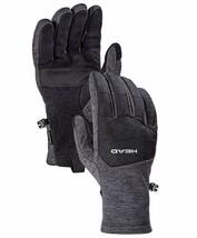 HEAD Men's Gray Ultrafit Sensatec Touchscreen Fleece Lined Running Gloves