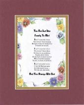 Touching and Heartfelt Poem for Extended Family Members - You Are Just Like Fami - $15.79