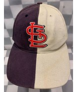 St Louis CARDINALS Baseball Split Color MLB Adjustable Adult Cap Hat - $12.12