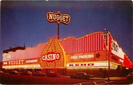 Chrome Postcard Nevada H555 The Nugget Carson City Bright Spot Old Cars ... - $6.00