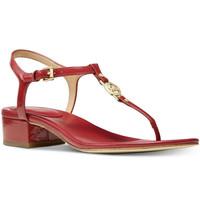 Nib Michael Michael Kors Cayla Mid Sandal - Scarlet Size 9.5M - $59.39