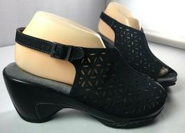 JBU by Jambu Sandals Womens Black Monica Slingback Shoes Size 8 M - $44.50