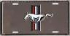 FORD MUSTANG LOGO ANODIZED CAR LICENSE  PLATE FREE USA  SHIPPING - $27.07
