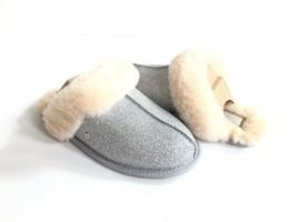 Ugg Scuffette Ii Sparkle Silver Wool Shearling Lined Slipper Us 10 / Eu 41 /UK 8 - $73.87