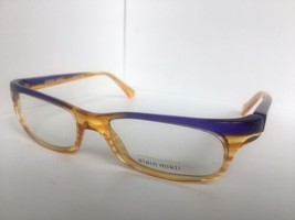 New ALAIN MIKLI AL 0691 AL0691 18 52mm Orange Purple Eyeglasses Frame France - $283.19
