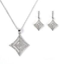 UNITED ELEGANCE Silver Tone Designer Set With Sparkling Swarovski Style Crystals - $29.99