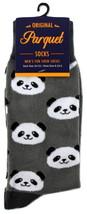 Panda Bear Socks Mens Novelty Crew Pink Casual Cotton Blend Fun Animal S... - $12.95