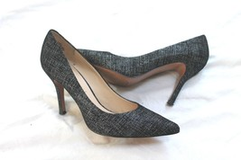 Nine West Flax Black 2  Leather Heel POINTY Pump Womens Shoes SIZE 7 1/2... - $24.75