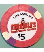 $5 Casino Chip, Terrible's, Lagrange, MO. W42. - $6.99