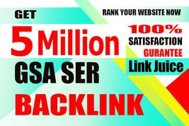 5 MILLION GSA SER Google Authority Backlinks for Multi-level Tier - Get ... - $128.67
