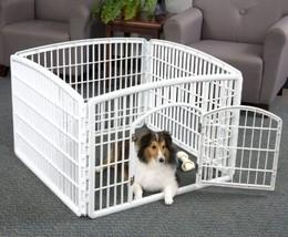 Pet Playpen Fence 4-Panel Indoor Outdoor Cage W... - $52.46