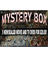 MYSTERY BOX- Lot of 5 RANDOMLY SELECTED NEW/SEALED DVDs - $20.00