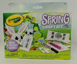 Crayola Spring Craft Kit Model Magic Glitter Glue Googly Eyes Bunnies - $11.88