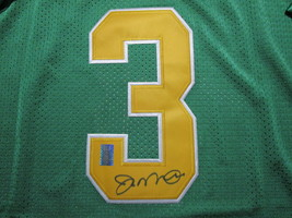 JOE MONTANA / AUTOGRAPHED NOTRE DAME GREEN & GOLD THROWBACK JERSEY / PLAYER HOLO image 3