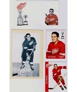 Earl Reidel Detroit Red Wings Parkhurst Missing Link Cards Photo and Not... - $15.19