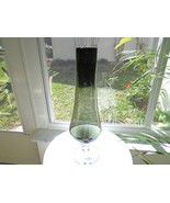 """Large Charcoal Color Art Vase Clear Base  18"""" Tall - $17.82"""