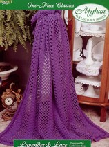 Lavender & Lace One-Piece Afghan TNS Crochet Pattern/Instructions Leafle... - $3.57