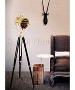 Royal Nautical Marine Chrome Finish Searchlight W/ Wooden Tripod Floor L... - $199.00