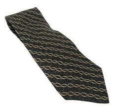 "Bill Blass Necktie New Lord & Taylor Tag 59"" Silk Black Gold Men Designer - $24.66"