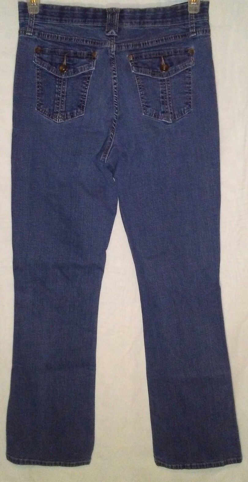 Lee Womens Jeans Size 10 Comfort Waistband Bootcut Medium Wash Flap Pockets