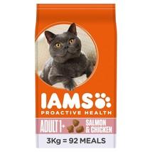 Iams Adult Dry Cat Food Salmon & Chicken 3kg - $42.96