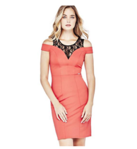 GUESS Womens Designer Lace Insert Dress Size 6 - BNWT - Pink / Coral - R... - $36.36